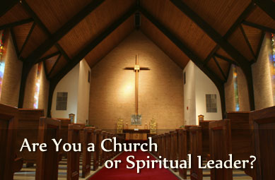 Are you a church or spiritual leader?